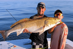 Certain times of the year Outer Banks anglers have a shot at catching these big red drum.