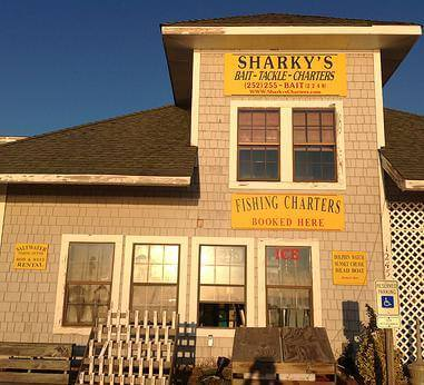 Sharky's Bait, Tackle and Charters Store Front in Duck, NC